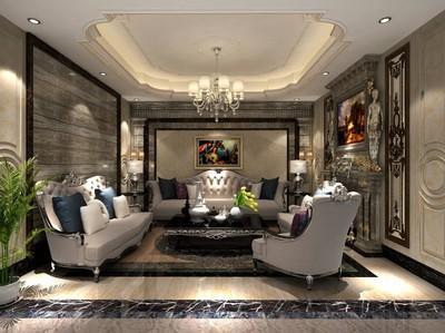 歐式風格會客廳裝修效果圖