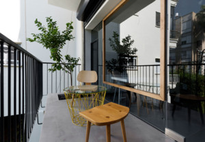 现代美式风格阳台装修布置效果图