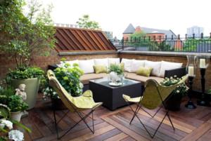 现代别墅露天阳台装修效果图