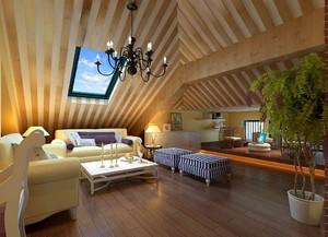 现代休闲风阁楼客厅装修效果图