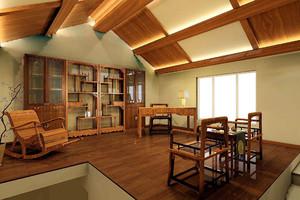现代原木风阁楼装修效果图