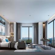 客厅现代飘窗一居室装修