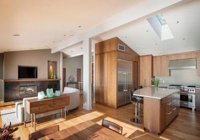 厨房客厅一体装修图