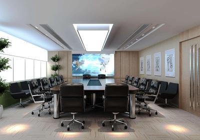 办公多功能会议室效果图
