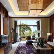 客厅东南亚局部80平米装修