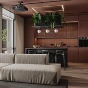 厨房现代家具80平米装修