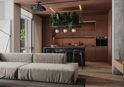 小户型客厅厨房一体装修图