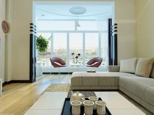 小户型阳台和客厅一体效果图