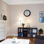 客厅简欧墙面一居室装修