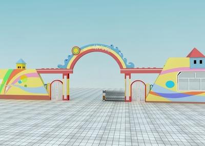 幼儿园创意大门设计效果图