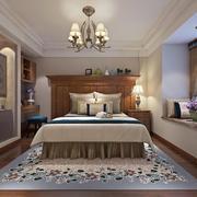 卧室现代门窗80平米装修