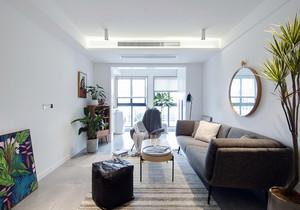 小户型客厅连卧室带阳台装修效果图