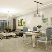 客厅现代玄关一居室装修