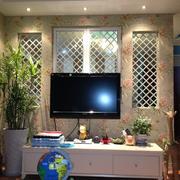 客厅田园电视墙小户型装修