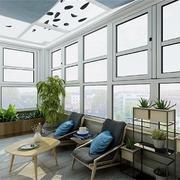 阳台中式局部别墅装修