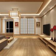 客厅日式电视柜100平米装修