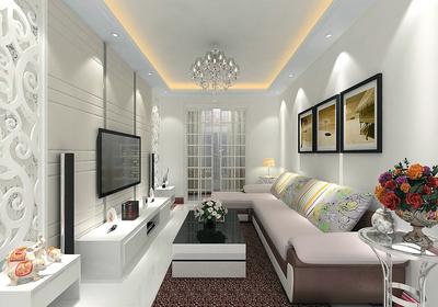 90平米欧式三室一厅装修效果图