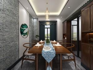 中式风格客餐厅一体效果图大全