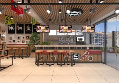 餐饮店面装修设计效果图