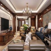 客厅美式局部一居室装修
