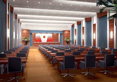 法院多功能会议室效果图