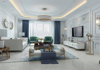 經典歐式客廳裝修效果圖
