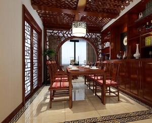 新中式客餐厅隔断装修效果图