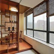 阳台中式局部小户型装修