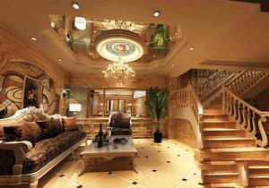 美式别墅地下室装修效果图