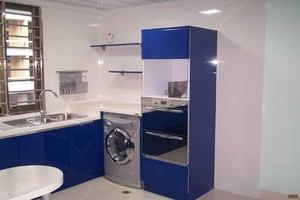 洗衣机放厨房的装修效果图