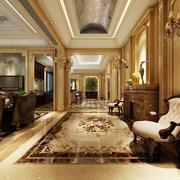 客厅欧式地面80平米装修