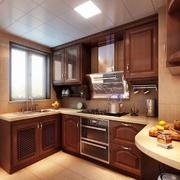 厨房现代局部80平米装修
