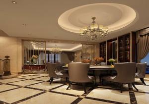 新中式客餐厅吊顶效果图大全