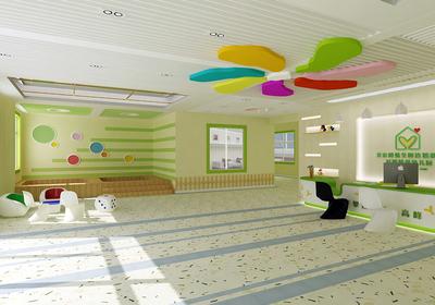 艺术培训学校接待大厅装修效果图