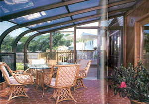 室外露天阳台阳光棚安装效果图