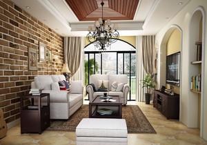 室内阳台美式复古装修效果图大全