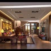客厅东南亚局部100平米装修