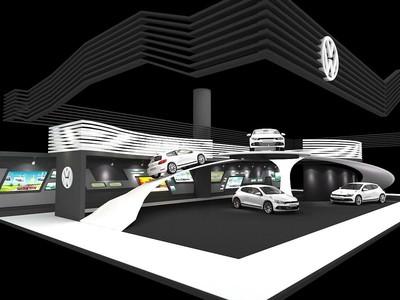 1000平方米汽车展厅设计效果图