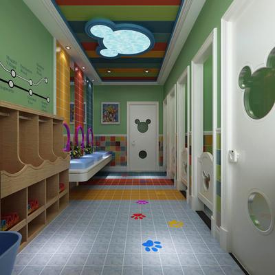 幼儿园卫生间瓷砖装修效果图大全
