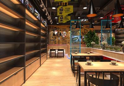 40平方米餐饮店面装修效果图