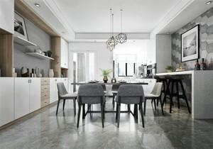 小户型餐客厅厨房一体装修效果图