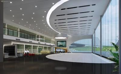 汽车展厅接待吊顶室设计效果图
