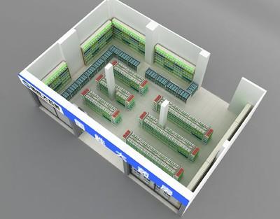 药店经营场所和仓库平面布局图