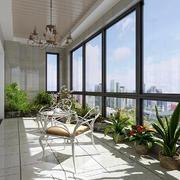 阳台现代吊顶小户型装修