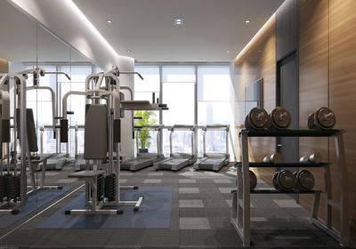 900平健身房平面布置图,室内健身房平面布置图