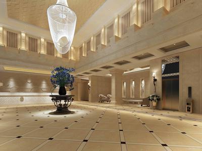 宾馆大厅地面装修效果图大全