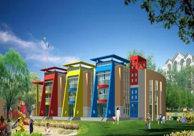 幼儿园复古大门设计效果图大全