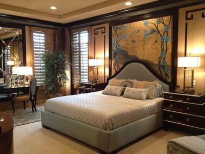 新中式風格臥室背景墻效果圖