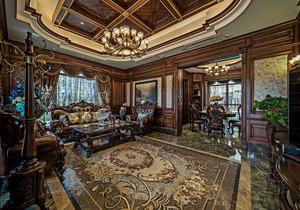 中式客厅红木家具装修效果图大全