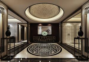 新中式进门玄关吊顶装修效果图欣赏